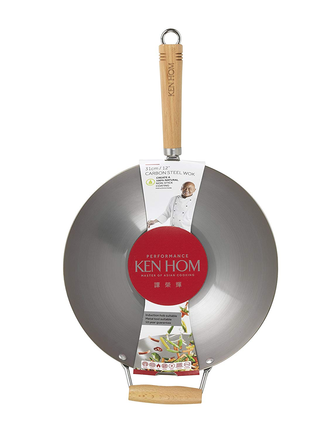 KEN HOM Nonstick Carbon Steel Wok